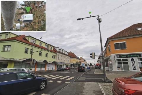 Zusammen mit dem Helius-Smart-Lidar-System von Cepton installierte ALP.Lab Vista-P60-Lidar-Sensoren an Kreuzungen und Kreisverkehren in Österreich. ©ALP.Lab