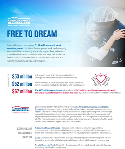 Free to Dream Fact Sheet