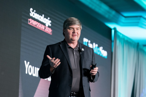 ScienceLogic CEO Dave Link speaks at ScienceLogic Symposium. (Photo: Business Wire)