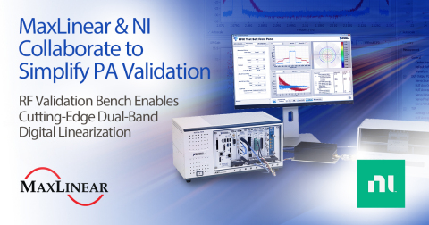 MaxLinear & NI Collaborate to Simplify Power Amplifier Validation (Graphic: Business Wire)