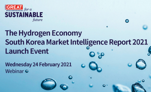 UK's Department for International Trade Seoul is hosting a webinar on Feb. 24 (Wed) to launch its 'The Hydrogen Economy South Korea Market Intelligence Report 2021.' The webinar will feature a presentation by Dilshod Akbarov, Project Coordinator at Intralink, who will speak about 'The Hydrogen Economy in South Korea: Opportunities for UK companies.' Kyung-Joon Ham, President, Ulsan Tourism Organisation, will give a presentation on 'Ulsan International Hydrogen Energy Exhibition & Forum 2021: H2World.' The webinar will be live-streamed for pre-registered online attendees, and can be viewed later on the YouTube channel run by The AI. Registration and details about the webinar are available at the webinar homepage (http://www.ukwebinar.com/hydrogen2021/).