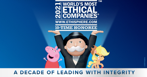 Hasbro, World's Most Ethical Companies -- 10-time Honoree. (Graphic: Business Wire)