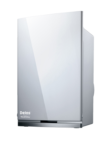 """""""Delos powered by Healthway"""" stand-alone portable air purification unit (Photo: Business Wire)"""
