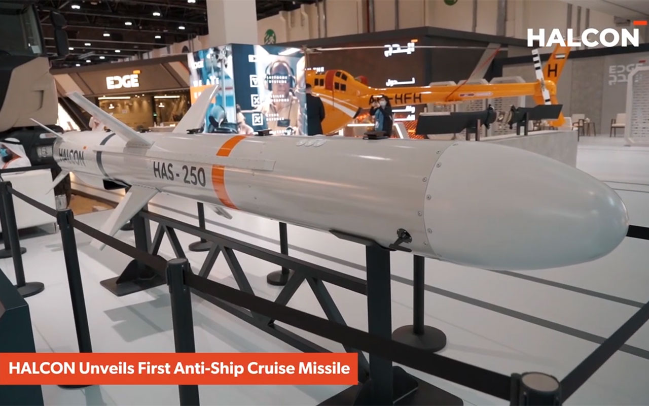 HAS-250 is a UAE-designed and developed surface-to-surface cruise missile - (Video: AETOSWire)