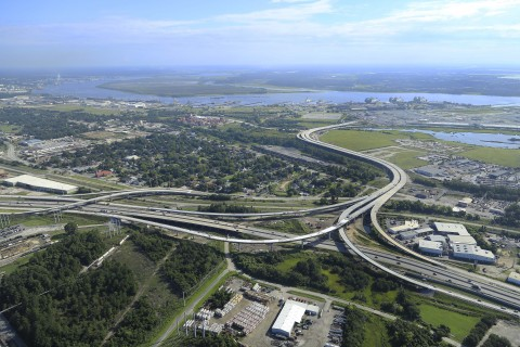 Fluor JV completes first phase of Charleston, S.C. port access road. (Photo: Business Wire)