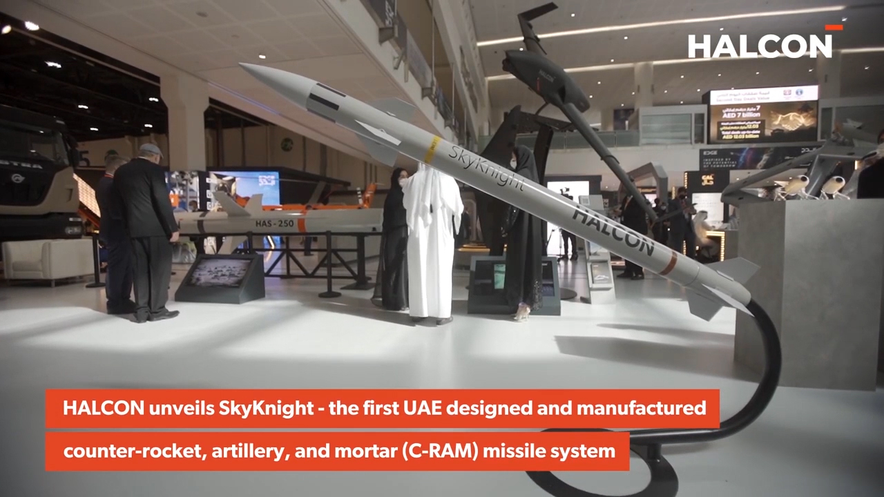 HALCON Unveils UAE's First Air Defence Missile (Video: AETOSWire)