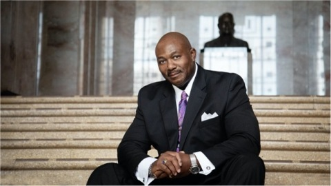 Jimmie Wilson at the Rene C. Davidson Courthouse in Oakland, California, where he currently serves as a Deputy District Attorney. (Photo: Business Wire)