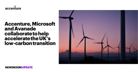 Accenture, Microsoft and Avanade collaborate to help accelerate the UK's low-carbon transition (Photo: Business Wire)