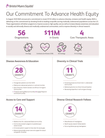 BMS Commitment To Advance Health Equity (Graphic: Business Wire)