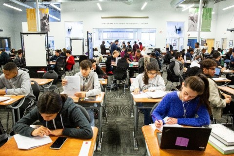 Learn4Life students study and take tests as part of one-on-one instruction meetings with supervising teachers. (Photo: Business Wire)