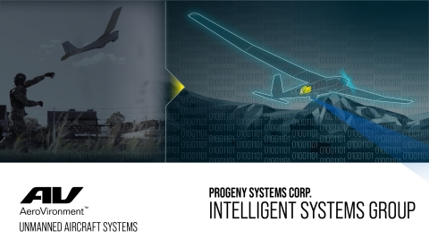AeroVironment, Inc. accelerates artificial intelligence and autonomy initiatives with acquisition of Progeny Systems Corporation's Intelligent Systems Group. (Graphic: Business Wire)