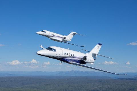 Cessna Citation Longitude and Cessna Citation Latitude business jets (Photo: Business Wire)