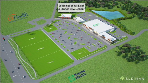 This is an overview of the property, Crossings at Wildlight. (Graphic: Business Wire)
