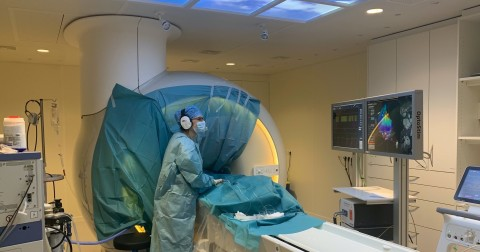 Dr. Marisevi Chaldoupi performing an atrial flutter ablation with Imricor's products at MUMC+ in a standard MRI suite equipped to function as an iCMR lab (Photo: Business Wire)