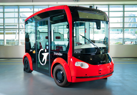 Mobileye, Transdev Autonomous Transport System and Lohr Group will integrate Mobileye's self-driving system into the i-Cristal autonomous electric shuttle, manufactured by Lohr Group, with plans to add it to public transportation services across the globe, starting in Europe. (Credit: Mobileye)