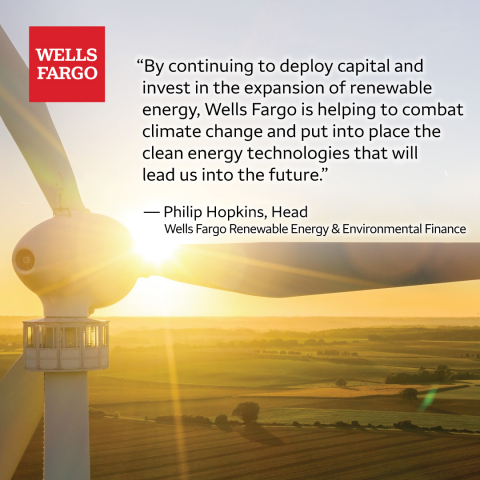 Wells Fargo Renewable Energy & Environmental Finance team recently surpassed $10 billion in tax-equity investments in the wind, solar, and fuel cell sectors. (Photo: Wells Fargo)