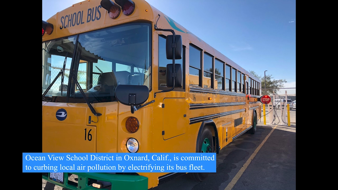 Construction is now complete for the Ocean View School District's electric school bus fleet in Southern California, made possible by a pioneering funding model and the smart charging experts at The Mobility House.