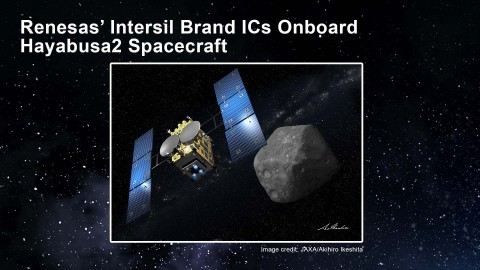 Renesas' Intersil Brand ICs Onboard Hayabusa2 Spacecraft (Graphic: Business Wire)