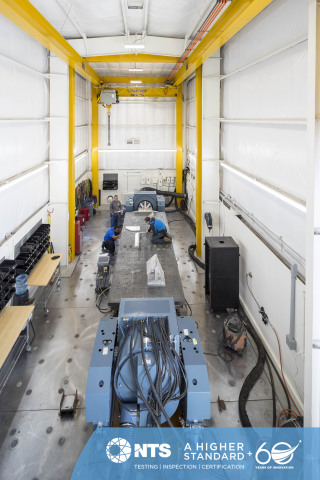 The Santa Clarita laboratory announces the grand opening of a multi-million-dollar dynamics test building, which houses a new, large-force T-4000 dual shaker system. (Photo: Business Wire)