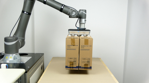 VGP20 is the world's most-powerful electric vacuum gripper. Compatible with all leading robot brands, the gripper can handle payloads of 20kg (44.09lbs), making it a great fit for a wide range of applications in industries from cosmetics and electronics to pharmaceuticals and food and beverage.