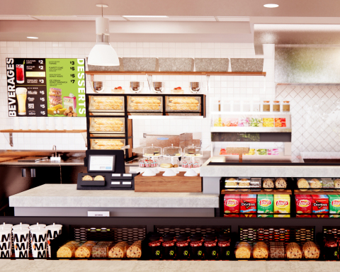 The Quiznos prototype includes a new design and menu elements and reimagine the physical expression of the brand. (Photo: Business Wire)