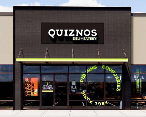The new restaurant design includes update signage to the exterior. (Photo: Business Wire)