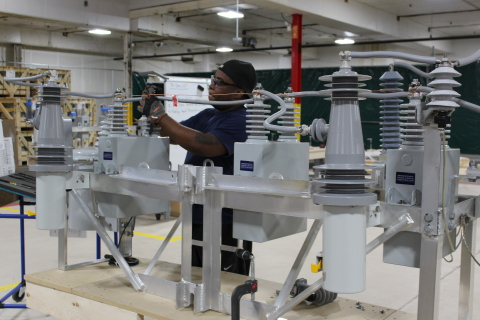 A technician assembles energy efficiency equipment for ComEd at The Will Group's new 60,000-square-foot facility on Chicago's West Side, where it will provide more than 100 jobs. (Photo: Business Wire)