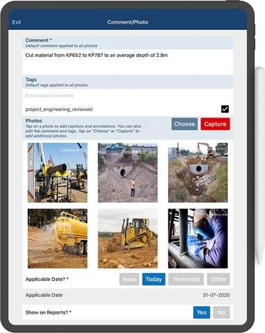 Foremen are connected in the field, providing updates across the project, including daily diaries, progress, and resource cost capture to provide clear line of sight for project leaders to make data-driven decisions. (Photo: Business Wire)