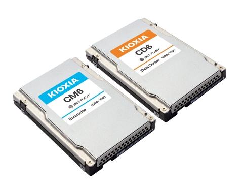 KIOXIA CM6, CD6 Series PCIe® 4.0 NVMe™ SSDs (Photo: Business Wire)