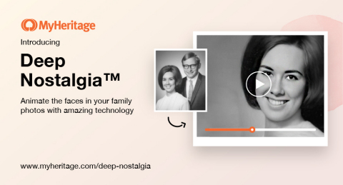 Introducing Deep Nostalgia™ (Photo: Business Wire)