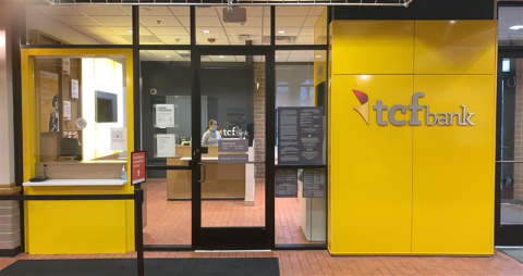 Entrance to the TCF - ACC 7 Mile Banking Center, located at 55 W. 7 Mile Road in Detroit. The banking center fills a gap in an under-served Detroit neighborhood where the next-closest bank is 3 miles away. (Photo: Business Wire)