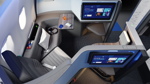 JetBlue's A321neo with Mint features 16 Mint suites – including two Mint Studios™ – and 144 core seats. (Photo: Business Wire)