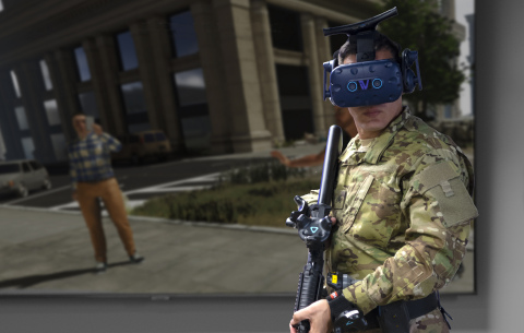 VR-DT (Virtual Reality ꟾ Decisions and Tactics) by InVeris Training Solutions (Photo: Business Wire)