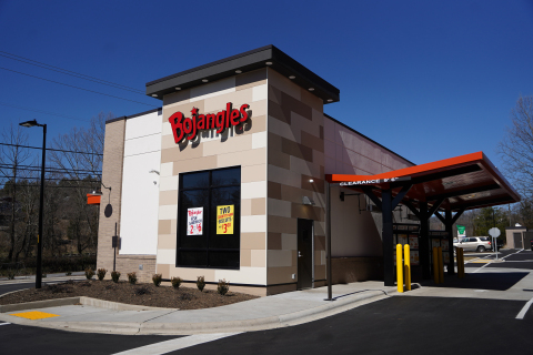 Rigsby's newest Bojangles location in Woodfin, NC, bringing his current total to 92. (Photo: Bojangles)
