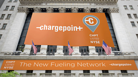 ChargePoint makes official debut on the New York Stock Exchange. (Photo: Business Wire)