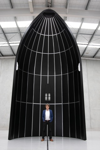 Rocket Lab CEO Peter Beck and Neutron (Photo: Business Wire)