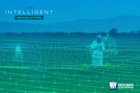 Mouser Electronics announces the third eBook from The Intelligent Revolution series, which examines fascinating new uses for AI in farming and other applications to improve the human experience. (Graphic: Business Wire)