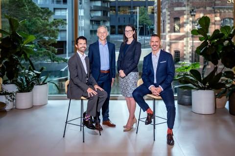 Luke Tomkin (GRA), Steven Bray (GRA), Louise May (Accenture) & Carter McNabb (GRA) (Photo: Business Wire)