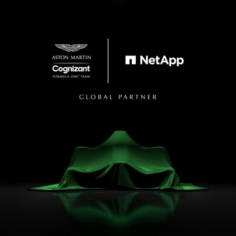 NetApp Joins Aston Martin Cognizant Formula One Team to Pioneer Data-Driven Racing Strategy (Graphic: Business Wire)