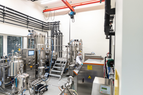 Inside c-LEcta's Leipzig production facility. (Photo: Business Wire)