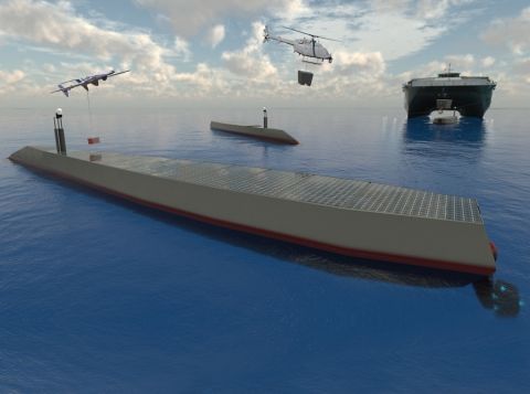L3Harris was chosen for phase one of the two-phase No Manning Required Ship (NOMARS) program. The L3Harris design concept will streamline NOMARS' construction, logistics, operations and maintenance life-cycle. (Photo: Business Wire)