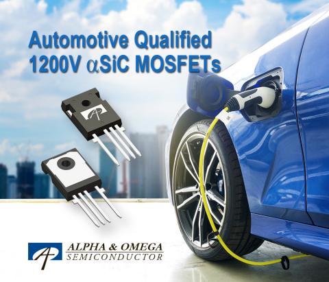 AOM033V120X2Q -- Automotive Qualified 1200V αSIC MOSFET (Photo: Business Wire)
