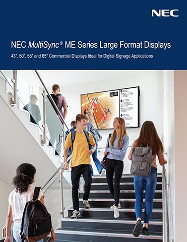 NEC MultiSync® ME Series Large Format Displays