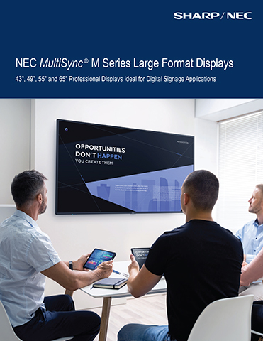 NEC MultiSync® M Series Large Format Displays