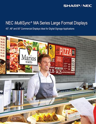 NEC MultiSync® MA Series Large Format Displays