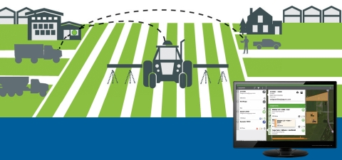 Dispatch Pro™ by Raven is the solution for ag retailers and enterprise farmers to have control over their fleets to make real-time dispatching decisions. (Graphic: Business Wire)