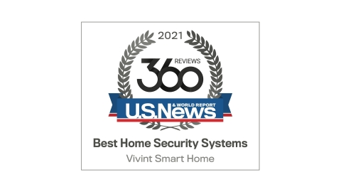"U.S. News & World Report names Vivint a ""Best Home Security System for 2021."" (Graphic: Business Wire)"