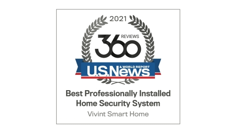 """U.S. News & World Report names Vivint the """"Best Professionally Installed Security System"""" for the third year in a row. (Graphic: Business Wire)"""