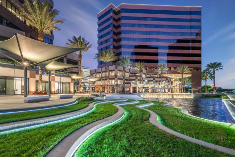 Centerview Plaza's multi-million dollar makeover emulates an 'urban forest' while providing ample creative outdoor spaces for tenants and visitors alike. (Photo: Business Wire)