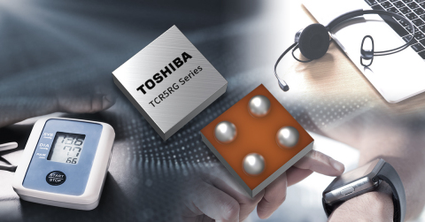 Toshiba: TCR5RG Series of 45 LDO regulators that help to reduce device size and stabilize power line output. (Graphic: Business Wire)